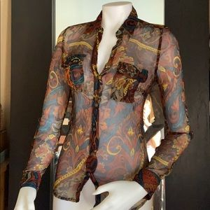 Lucky brand lace button shirt sz small nwot